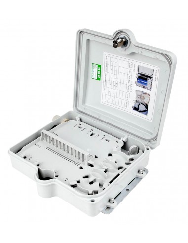 FTTH fiber optic distribution box for upto 12 SC simplex adapters MegaF - 1