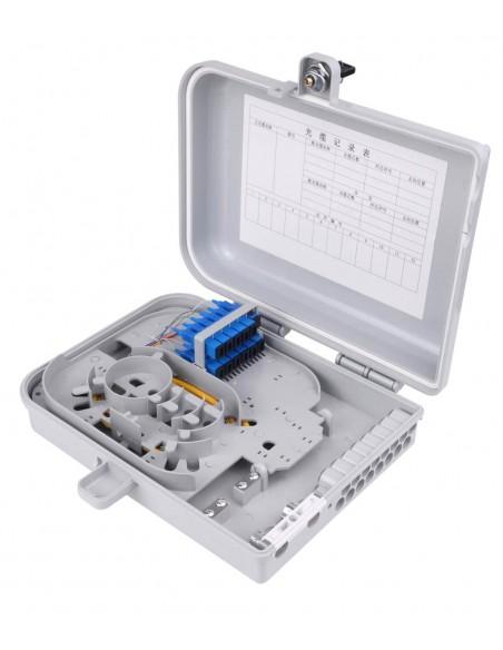 FTTH fiber optic distribution box for upto 12 SC simplex adapters MegaF - 1