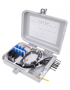 FTTH fiber optic distribution box for upto 16 SC simplex adapters MegaF - 1
