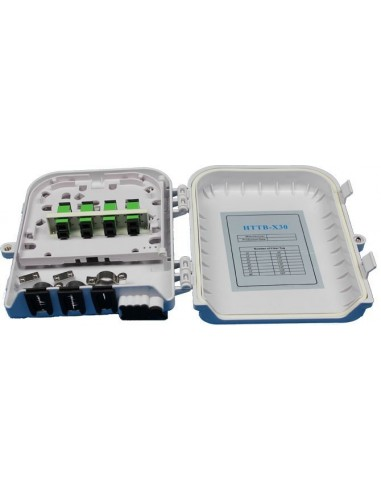Fiber optic termination box for 8 SC...