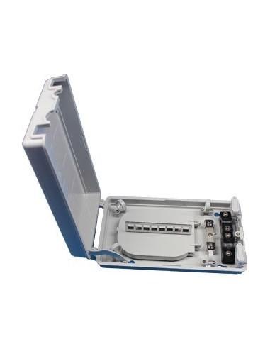 Fiber optic termination box for 8 SC...