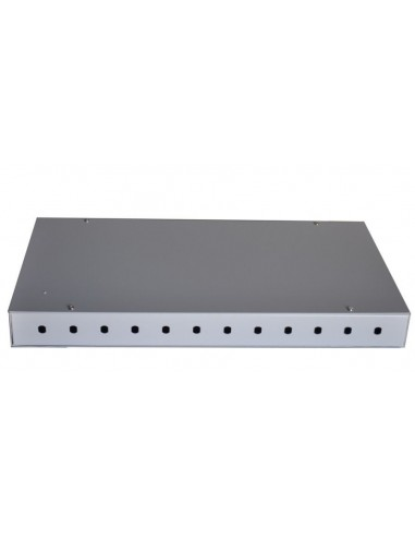 Fiber optic patch panel for 12 ST or...