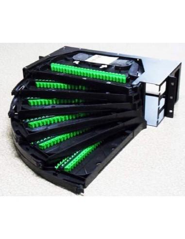 Оптичен панел за 96 SC сиплексни адаптера, 2U MegaF - 1