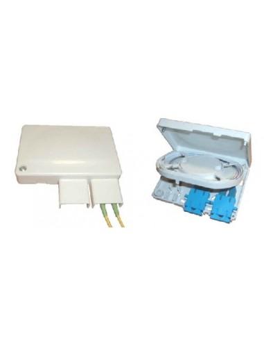 Fiber optic box for 4 fibers, 80x120x25 mm MegaF - 1