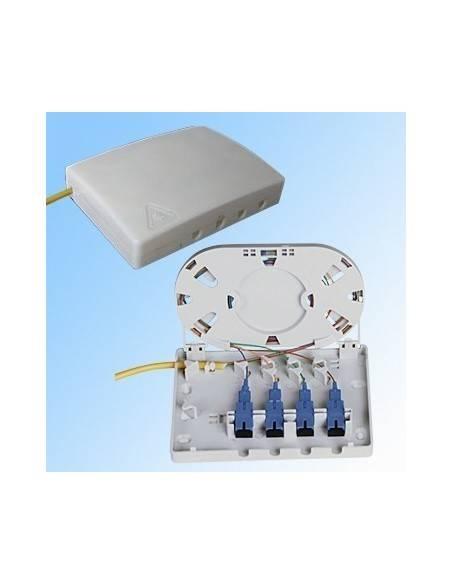 FTTH стенна оптична розетка за 4 SC симплексни адаптера MegaF - 1