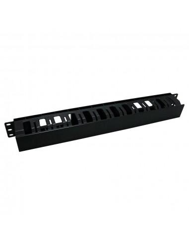 Пластмасов аранжиращ панел с 12 отвора, черен, Conneu Conneu - 1