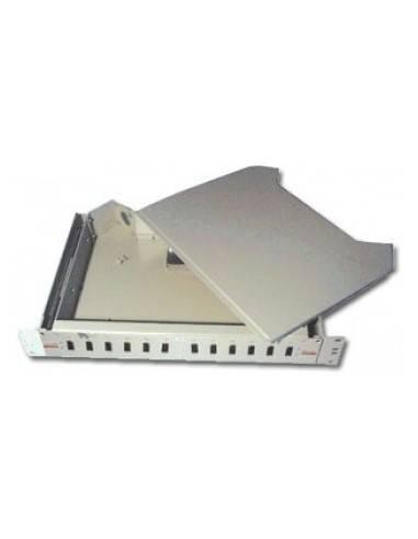 """19"""" splice box, un-assembled, sliding unit, for 12xSC duplex adapter MegaF FO  MegaF - 1"""