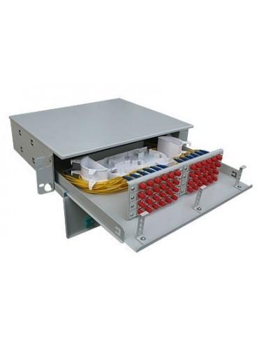 "Оптичен пач панел /ODF/ 19"" за 48 SC адаптера, 2U Linkbasic - 1"