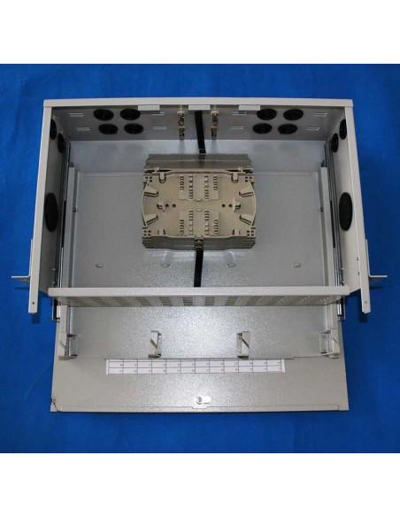 Оптичен пач панел ODF за 96 SC симплексни адаптера, незареден, изтеглящ се MegaF - 3