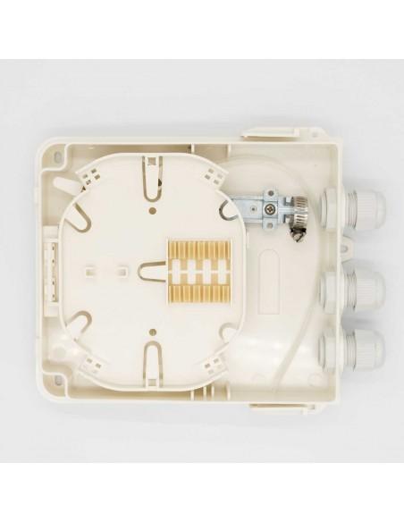 Fiber optic termination box for 4 SC simplex adapters, IP 65 MegaF - 1