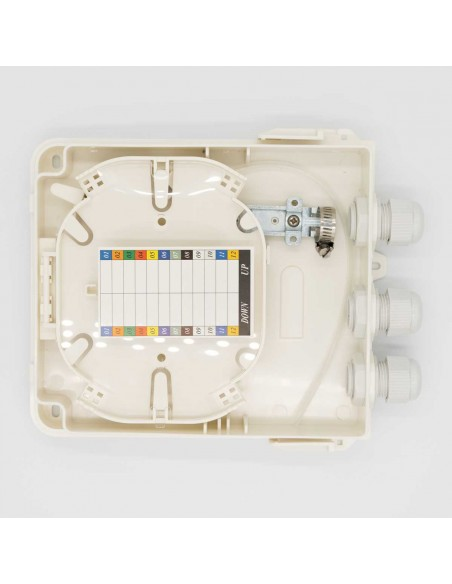 Fiber optic termination box for 4 SC simplex adapters, IP 65 MegaF - 2