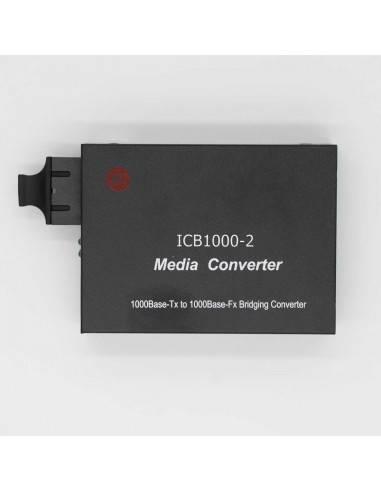 Gigabit media converter 1000M multi mode dual fiber - 2 km, ICB  - 1