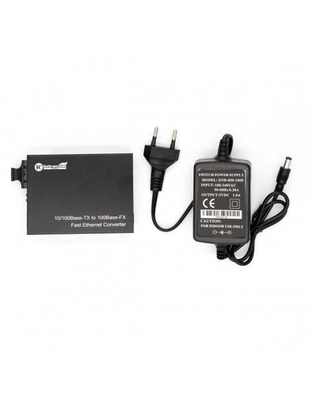 Media converter, Multi mode, Dual fiber, 10/100M, 1310 nm, 2 km  - 4