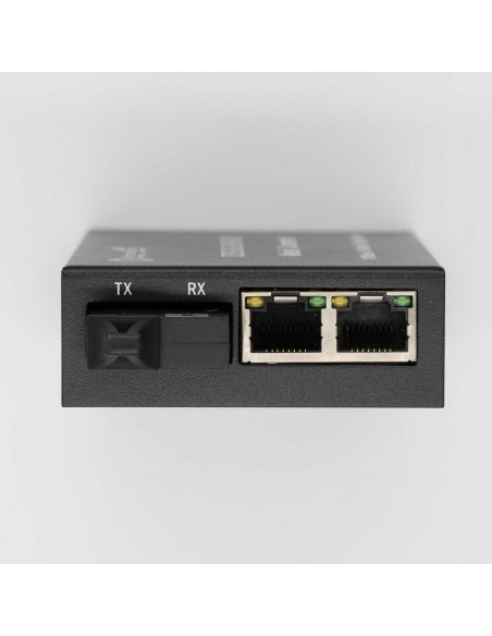 Media converter 10/100M Single mode single fiber TX:1550 - RX:1310 + 2xRJ45 ports - 20 km, ICB  - 1