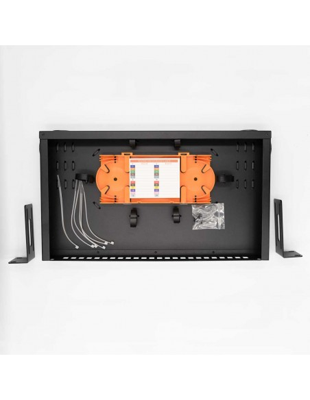 Fiber optic patch panel ODF for 24 SC simplex adapters, unloaded MegaF - 4