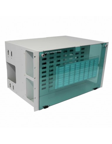 Fiber optic panel ODF 72 SC Duplex ports - 144 fibers 6U MegaF - 1