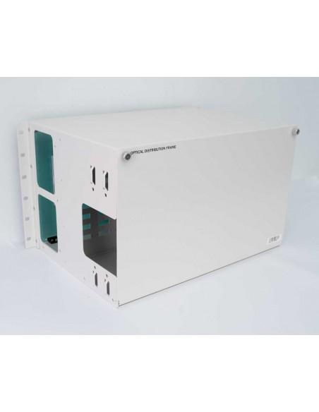 Fiber optic panel ODF 72 SC Duplex ports - 144 fibers 6U MegaF - 4
