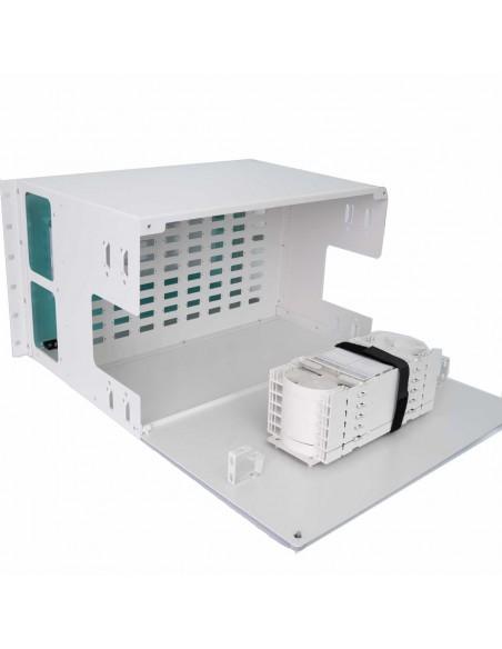 Fiber optic panel ODF 72 SC Duplex ports - 144 fibers 6U MegaF - 2