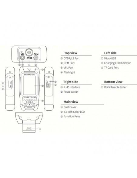 Smart OTDR Handheld + Power meter + VFL + Laser Source + Lan Tester  - 4