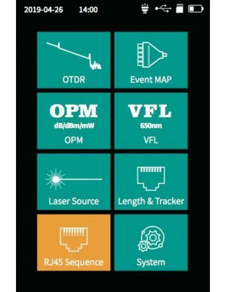 Smart OTDR Handheld + Power meter + VFL + Laser Source + Lan Tester  - 5