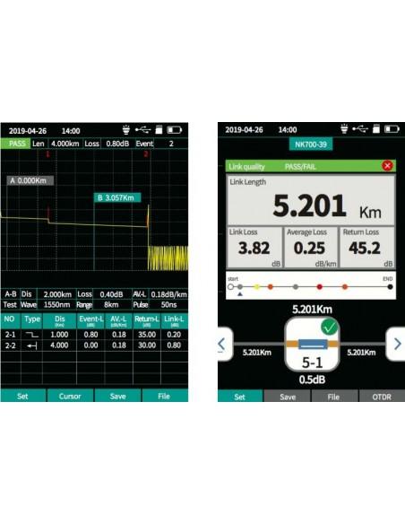 Smart OTDR Handheld + Power meter + VFL + Laser Source + Lan Tester  - 6