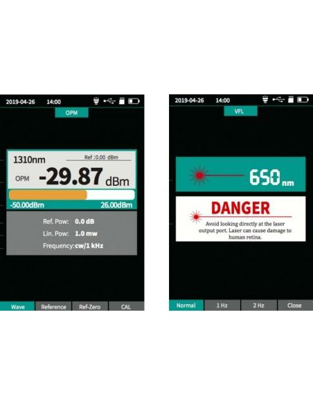 Smart OTDR Handheld + Power meter + VFL + Laser Source + Lan Tester  - 7