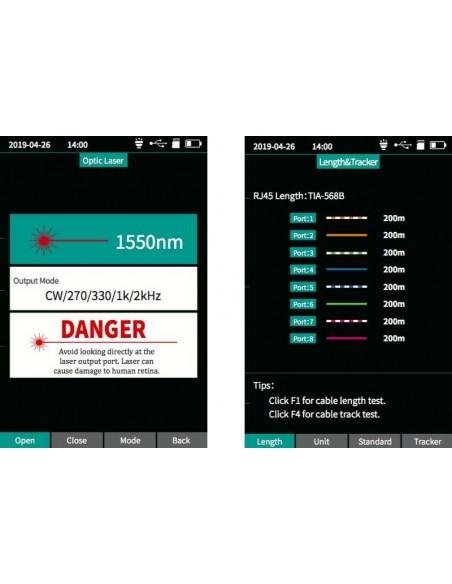 Smart OTDR Handheld + Power meter + VFL + Laser Source + Lan Tester  - 9