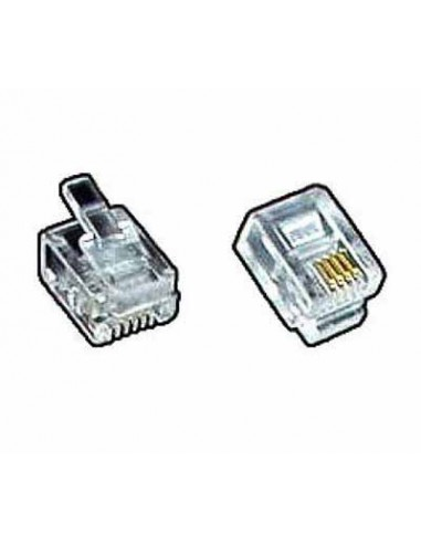 modular plug, RJ10 4P4C for flat cable  - 1