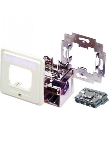 Outlet CO inst.Kit, DIN 68x68, White COMMSCOPE - 1