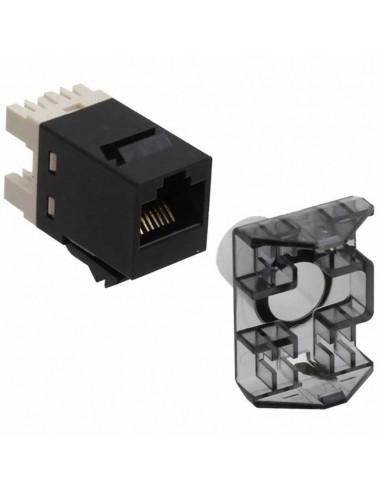 Инсърт AMP, SL 110 Connect JACK, U/UTP, CAT 6, без капаче, черен COMMSCOPE - 1