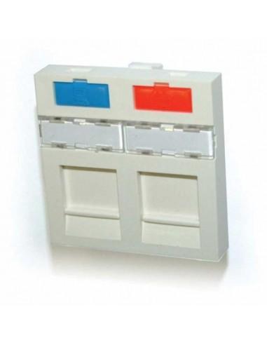 Лицев панел за два жака, плосък, 45x45, бял COMMSCOPE - 1