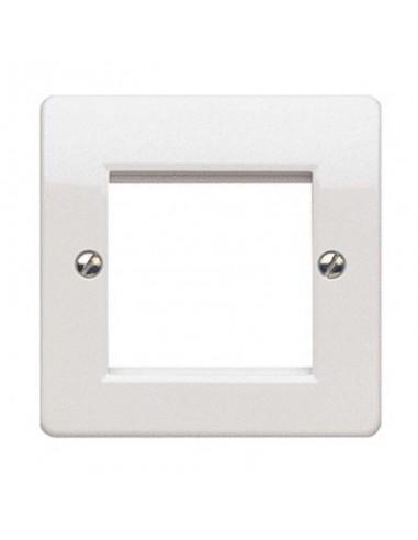 Рамка за 1 модул 45х45 или 2 модула 22.5x45, бял COMMSCOPE - 1