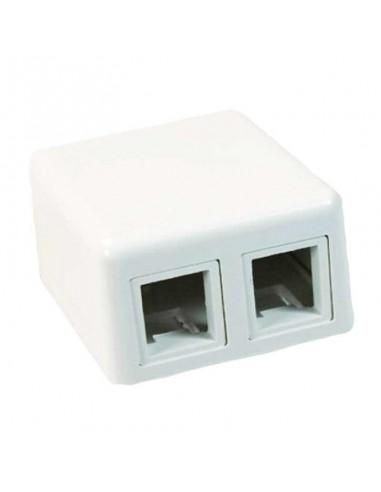 KIT, DUAL PORT MODULAR JACK BOX, WHITE