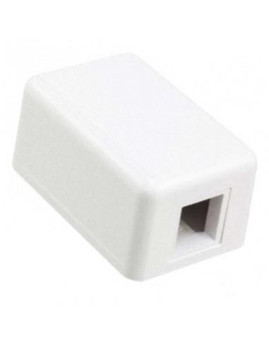 KIT, SINGLE PORT MODULAR JACK BOX, WHITE COMMSCOPE - 1
