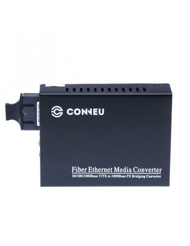 Media converter, multi mode, dual fiber, 10/100/1000M, 850 nm, 550 m - 1