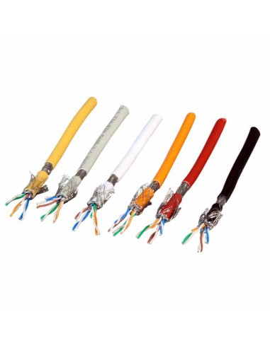 Stranded cable category 7 SF/UTP, LSZH, yellow - 100 m