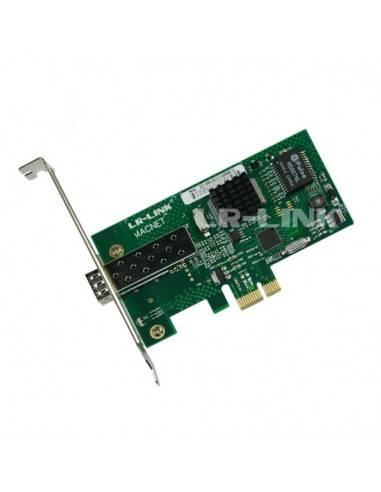 Оптична мрежова карта за гигабит SFP модул PCI-E Marvell Chipset MegaF - 1
