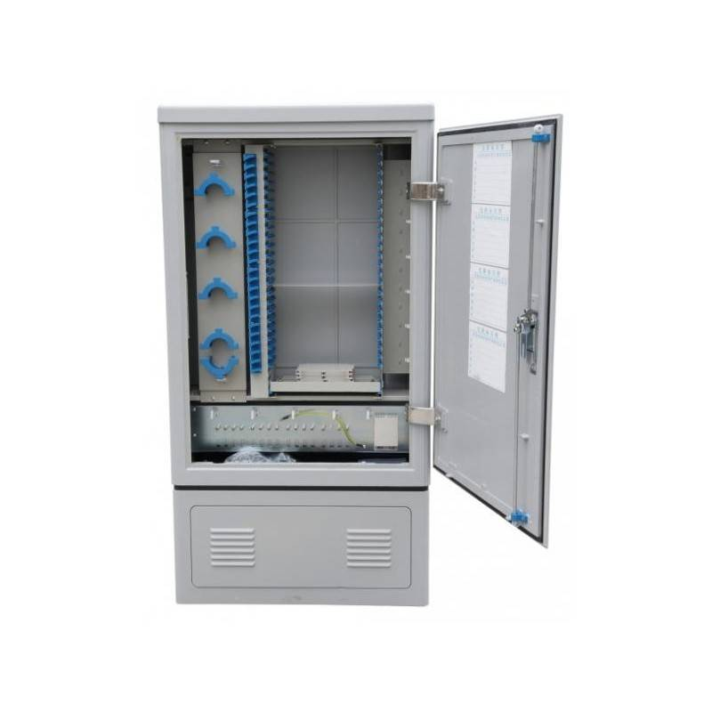 Fiber optic outdoor cabinet for upto 288 adapters MegaF - 1