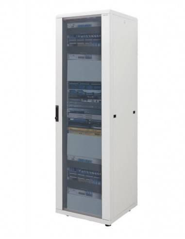 Комуникационен шкаф 22U 600x800 mm, RAL 7035 Light Grey, разглобен Canovate - Турция - 1