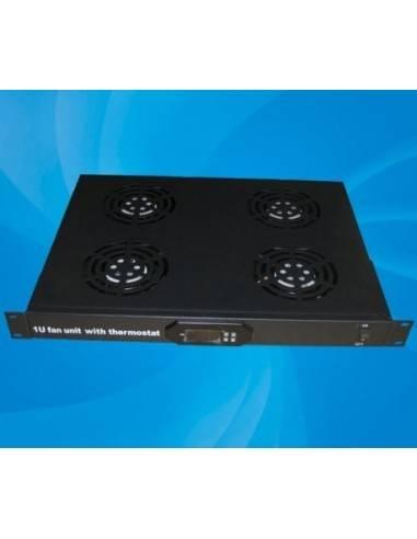 """Вентилаторен блок за комуникационен шкаф с 4 вентилатора + дигитален термостат за 19"""" монтаж, MegaS MegaS / ZPAS - 1"""
