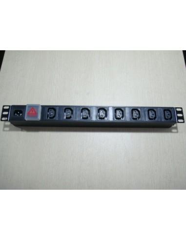 """Разклонител 8 гнезда IEC за монтаж в комуникационен шкаф, 19"""" 1U MegaS / ZPAS - 1"""