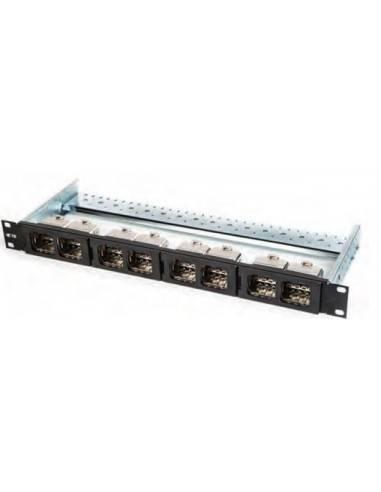 Patch panel 8 port CO Quick-Fit, 1U, black COMMSCOPE - 1