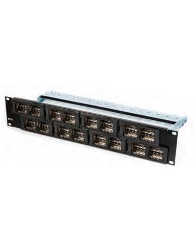 Patch panel port CO Quick-Fit, 2U, black COMMSCOPE - 1