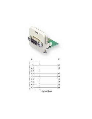 Insert CO Plus 1 x D-SUB 9 pos, Almond COMMSCOPE - 1