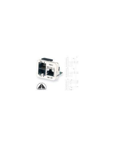 Insert CO Plus 3 x RJ45 for Std. Phones, Almond COMMSCOPE - 1