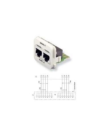 Insert CO Plus 2 x RJ45 cat.5e ISDN, Black COMMSCOPE - 1