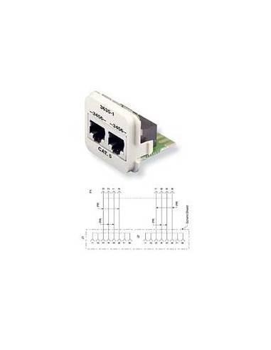 Insert CO Plus 2 x RJ45 cat.5e ISDN, Almond COMMSCOPE - 1