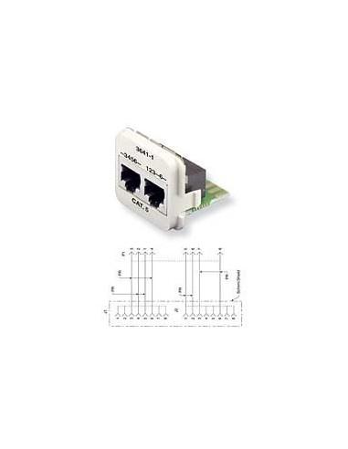 Insert CO Plus 2 x RJ45 cat.5e mixed, White COMMSCOPE - 1