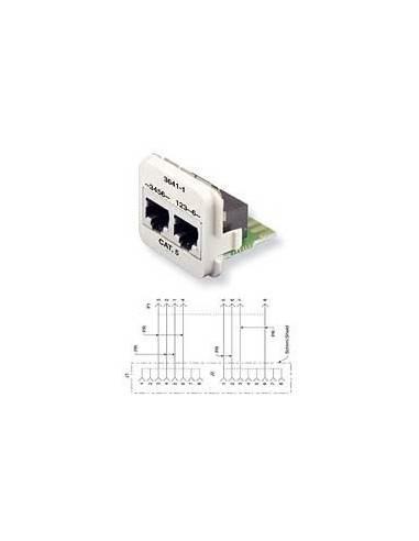 Insert CO Plus 2 x RJ45 cat.5e mixed, Black COMMSCOPE - 1