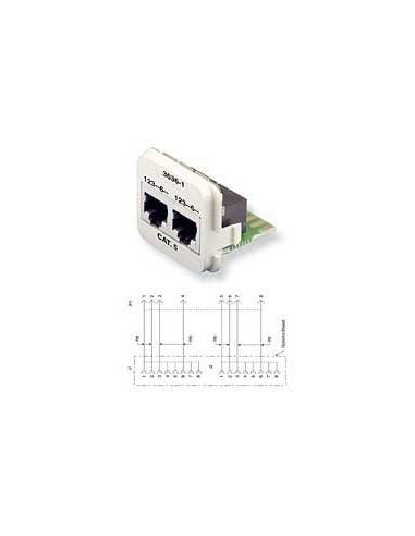 Insert CO Plus 2 x RJ45 cat.5e, White COMMSCOPE - 1